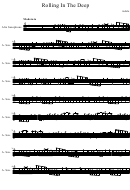Rolling In The Deep Alto Sax Sheet Music