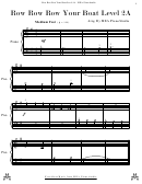 Row Row Row Your Boat Level 2a Sheet Music