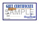 Gift Certificate Template - Sample