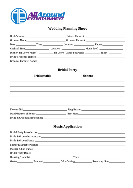 42 wedding planning templates free to download in pdf