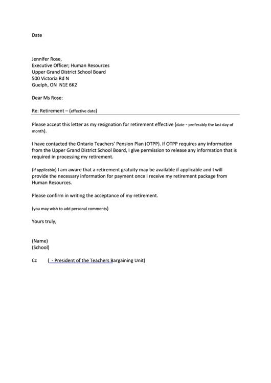 teacher retirement letter to school board narco penantly co