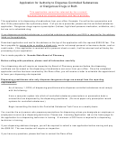 Application For Authority To Dispense Drugs - Nevada State Board Of Pharmacy