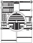 Character Sheet - Alternative 2
