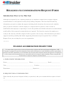 Religious Accommodations Request Form