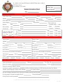 Student Information Sheet - St. Andrew The Apostle Roman Catholic Elementary School