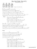 Patrick Monahan - Hey, Soul Sister (key Of C) Chord Chart