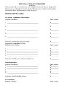 Building A Budget Worksheet Template