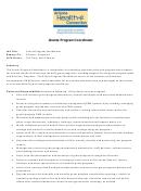 Grants Program Coordinator Sample Job Description