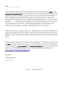 Sample Permission Letter Template