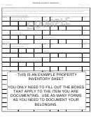 Personal Property Inventory Sheet Example