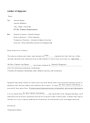 Letter Of Appeal Template