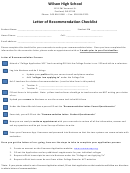 Letter Of Recommenda Template