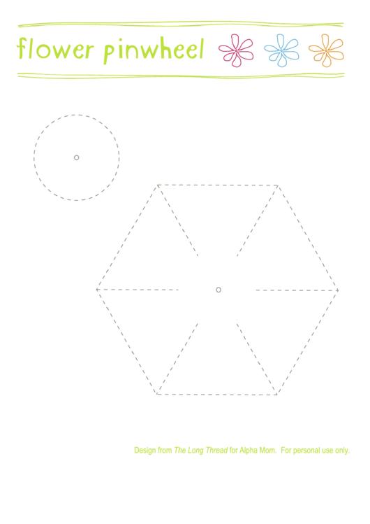 Pinwheel Flower Template Printable Pdf Download