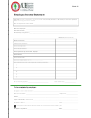 Employee Income Statement Template