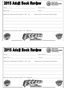 Adult Book Review And Recommendation Form