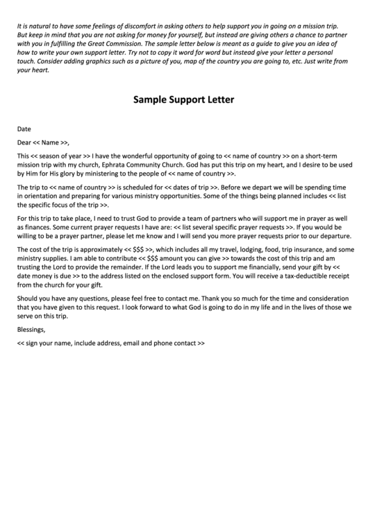 mission trip support letter template the best letter 2018