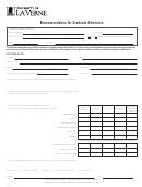Graduate Recommendation Letter