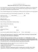 High School Request For Course Articulation Form - Walla Walla Community College