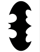 Black Batman Symbol Template