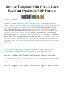 Invoice Template With Credit Card Payment Option Template