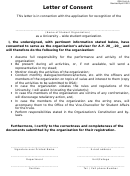 Organization Adviser Letter Of Consent Template