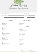 Wedding Day Checklist - Forever Friday