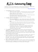 Literary Analysis Essay Outline Template