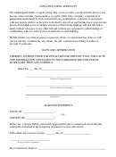 Non-collusion Affidavit Form