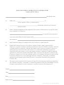 Non-collusion Affidavit Of Contractor Form