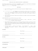 Release Of Earnest Money Agreement Form
