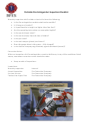 Portable Fire Extinguisher Inspection Form - Monthly Record