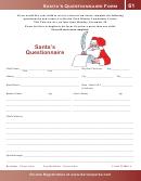 Santa's Questionnaire Template