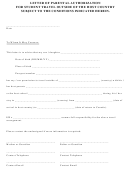 Letter Of Parental Authorization For Student Travel Outside Of The Host Country Subject To The Conditions Indicated Herein