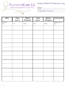 Home Blood Pressure Log Template