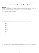 News Story Analysis Worksheet Template