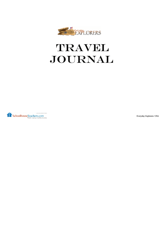 Travel Journal Template