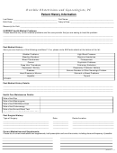 Patient History Information Form