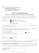 Letter Of Representation Template
