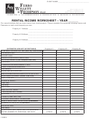 Rental Income Worksheet Template