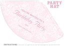 Princess Party Hat Invitation Template