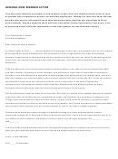 General New Member Letter