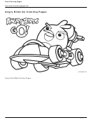 Angry Birds Go Coloring Sheet Template