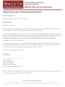 Sample Cover Letter For Dental Assistant Position