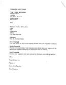 Resignation Letter Format Template Printable pdf