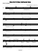 Sythn-xylophone Sheet Music: Wake Me When September Ends