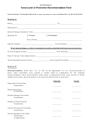 Tenure And/or Promotion Recommendation Form