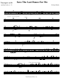 Save The Last Dance For Me Music Sheet - Michael Buble