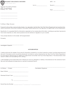 Request For School Records Form