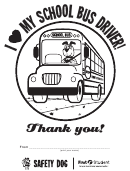 I Love My School Bus Driver Coloring Sheet