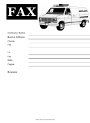 Ambulance - Fax Cover Sheet